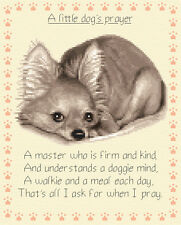 Chihuahua dog, puppy complete counted cross stitch kit