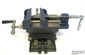 """2 Way Cross Slide Vice For Drill Press Drilling Machine 4"""" From Chronos"""
