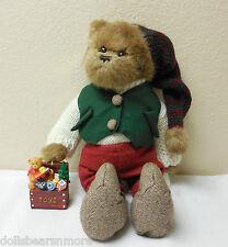 """NWT 14"""" Bearington """"Mr. Bear Jingles"""" Annual L.E. Musical Bear wOrnament. #1474"""