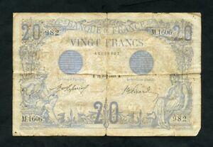 FRANCE  20 francs  1912  Krause 68b  VG  Banknotes