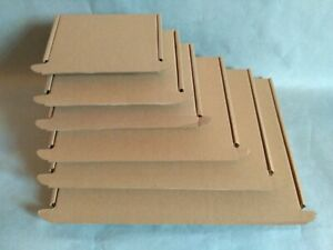 Royal Mail Large Letter Size Cardboard Boxes -Brown- Biodegradable & Compostable
