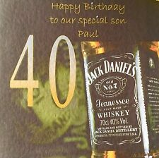Jack Daniels Any Age Any Name Personalised Card
