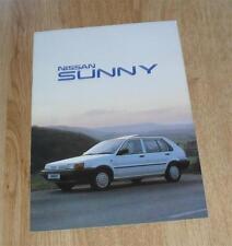 Nissan Sunny Brochure 1988 - LS GS GSX ZX Coupe - UK Market
