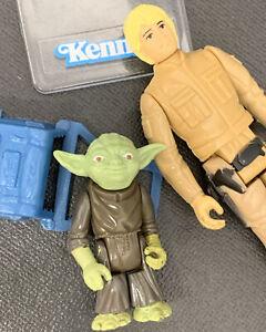 ❗️VTG_1980_Kenner_Star~Wars_Luke~Bespin~Yoda~Backpack~LOT_100%Original_EX+Cond