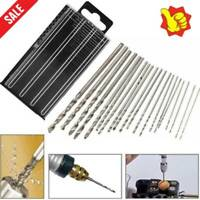 20PCS Mini Tiny Micro HSS Twist Drill Bit Set 0.3mm-1.6mm Super With Model O4J7