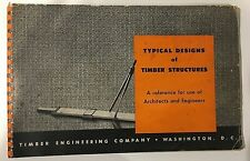1940's TECO Typical Designs Of Timber Structures Vintage Catalog for Architects