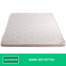 Memory Foam Mattress Topper 7cm Underlay Cover Queen Double Single Sleep Bed Queen