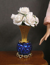 VASE OF  WHITE  ROSES  for  BARBIE  ~ Patsy Mac ~ 1:6 scale ~ Action Figure