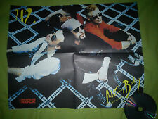 """U2 """"ACHTUNG BABY"""" RARE A2 SIZE SPANISH POSTER / UN AÑO DE ROCK - BONO - THE EDGE"""