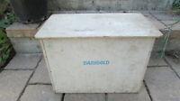 Vintage 1960's DARIGOLD Wood Dairy Milk Delivery Porch Box Container 2 gallon