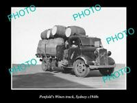 OLD POSTCARD SIZE PHOTO OF THE PENFOLDS WINES TRUCK SYDNEY NSW c1940 3