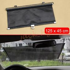 Car Windshield Sucker Sun Shade Elastic Roll-up Black Cover Visor Accessories