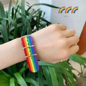 Transgender Bracelet Lesbian Gay Bisexual Rainbow WoMen Braided Friendship NEW