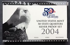 United States Mint 50 State Quarters Silver Proof Set 2004