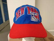 VINTAGE STARTER NHL NEW YORK RANGERS SEWN SNAPBACK HAT/CAP 1995 PRE-OWNED