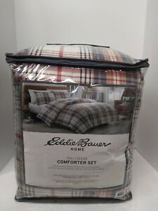 Eddie Bauer Classic Plaid Bright Red Comforter Set, Full/Queen