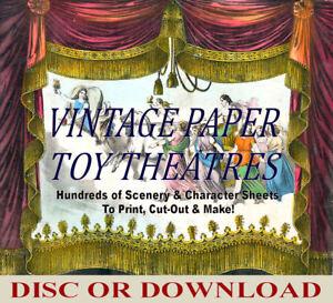 VINTAGE PAPER TOY THEATRE TEMPLATES ☆ 100's Images ☆ PRINT, CUT OUT, MAKE!