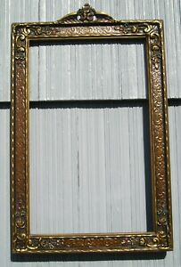 Stunning Floral Top Art Nouveau Art Crafts Ornate Surface Picture Frame 10 x 16