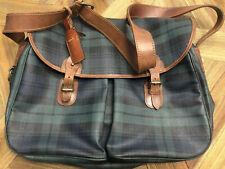 VINTAGE Polo Ralph Lauren Blackwatch Tartan Plaid Messenger Bag Shoulder Travel