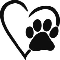 Dog Heart Paw I Love Dogs Sticker Vinyl Decal for Windows, Cars, Laptops,Trucks
