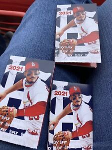 3 St Louis Cardinals 2021 Baseball Pocket Schedules Arenado Ready To Ship
