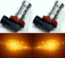 LED 50W H11 Orange Amber Two Bulbs Fog Light Replacement Plug Play Show Use