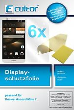 6x Ecultor Huawei Ascend Mate 7 Film de protection d'écran cristal clair