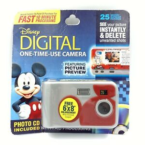Disney Parks Camera Model 410 Digital One Time Use w/ Picture Preview NEW SEALED