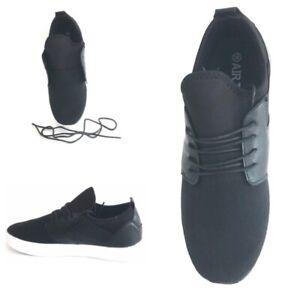 Men Black Orthopaedic Diabetic Ultralight Leather Lace Shock Cross Gym Shoe Size
