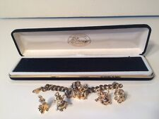 1995 Disney Catalogue Anniversary Charm Series Bracelet With 5 Charms