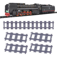 New 18pcs Straight Train Track Railroad Non-Powered Rail Compatible with Kid Toy
