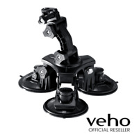 VEHO MUVI UNIVERSAL PROFESSIONAL TRIPLE CUP SUCTION MOUNT - BLACK - VCC-A027-3SM