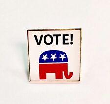 VOTE Republican Lapel Pin Political Election Campaign American Flag union