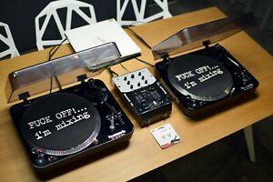 Full DJ Set: 2x Numark TT 100 with new needles & DM 950 mixer + 10 records incl
