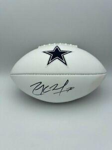Zack Martin Signed Dallas Cowboys White Panel Football COA Hologram