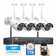 Wireless Cctv WiFi Ir-Cut Outdoor Camera Security System Video Surveillance Kit