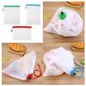 3pcs Premium Reusable Mesh Produce Bags, Eco-Friendly Grocery Shopping Storage
