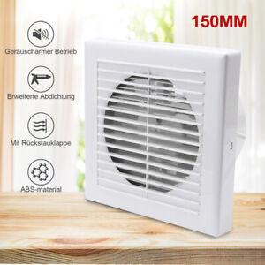 Badlüfter Küche 150mm Ventilator Wandlüfter Einbaulüfter Mit Rückflussleitblech