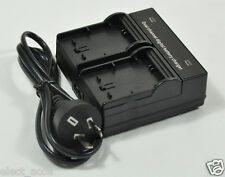 Dual Twin Double Channel AC Charger Fr Sony NP-FH100 FH30 FH70 FH50 FH60 Battery