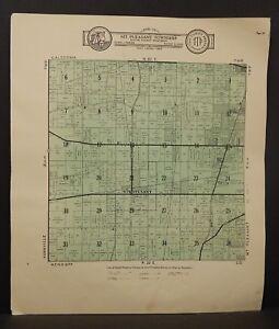 Wisconsin Racine County Map Mt Pleasant Township  c.1908  K21#10