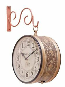 Vintage Clock Double Side Iron Wall Clock / 8 Inches Size &freeShipping