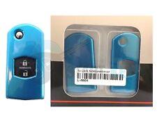 Mazda 2 3 4 5 6 MX-5 CX-7 CX-9 RX-8 Schlüssel Hülle Cover Metallic Optik Blau