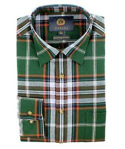 Viyella 80/20 British Racing Green Plaid Classic Fit Shirt