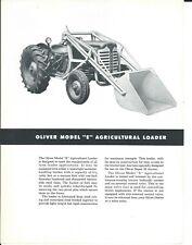 Oliver White Tractor E EI EH Loader Dealer/'s Parts Book