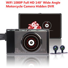 140° Full HD 1080P Front Motorcycle WiFi Hidden DVR Recorder +Rear View Cameras