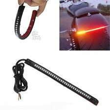 32 LED Red Amber Motorcycle Integrated Tail Brake Stop Turn Signal Light Strip