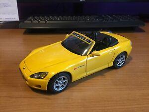 """1/18 scale, Maisto, Honda S2000, """"Modified"""", bright yellow with black interior"""