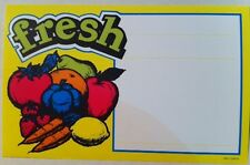 Retail Produce Price Card  Fresh 3.5 x 7 inch 100 cards shrink wrap