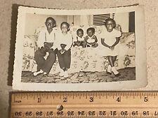 Vintage photo African American Children Couch 1950's-60's - read description