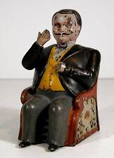 1880s CAST IRON MECHANICAL BANK - POLITICAL AMERICANA LITTLE FAT MAN By STEVENS